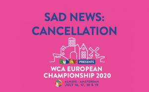 WCA Euro 2020 geannuleerd