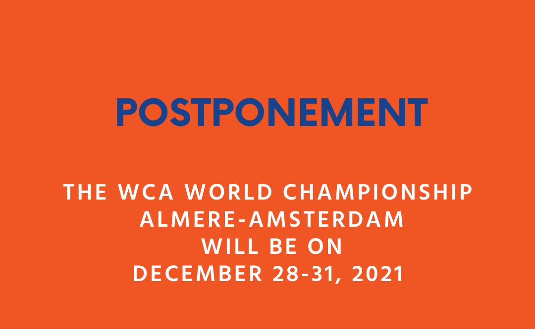 WK in Almere uitgesteld